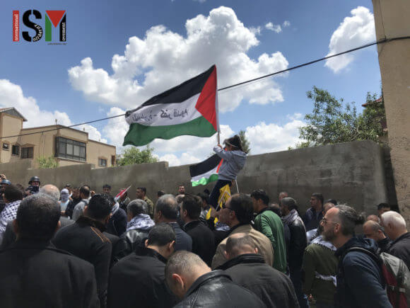 A demonstration in Kafr Qaddum in April 2010 (Photo: International Solidarity Movement)