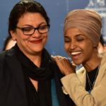 Democratic U.S. Representatives Ilhan Omar, right, and Rashida Tlaib enjoy a supportive moment during a news conference at the State Capitol in St. Paul on Monday, Aug. 19, 2019. (Photo: John Autey / Pioneer Press)