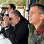 Then Minister of Defense Avigdor Lieberman and Maj. Gen. Aviv Kochavi in 2018.