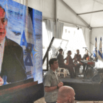 Netanyahu speaks at ceremony in Hebron on September 4th, 2019 (photo: Twitter)