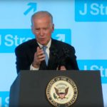 Joe Biden speaks at the 2016 JStreet conference.