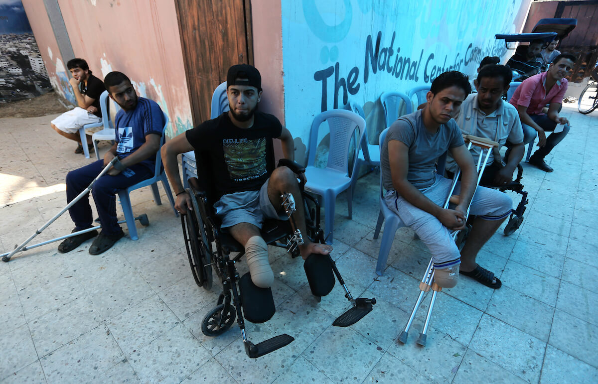 More than 1,000 Palestinians in Gaza have bone infections after being shot by Israeli forces