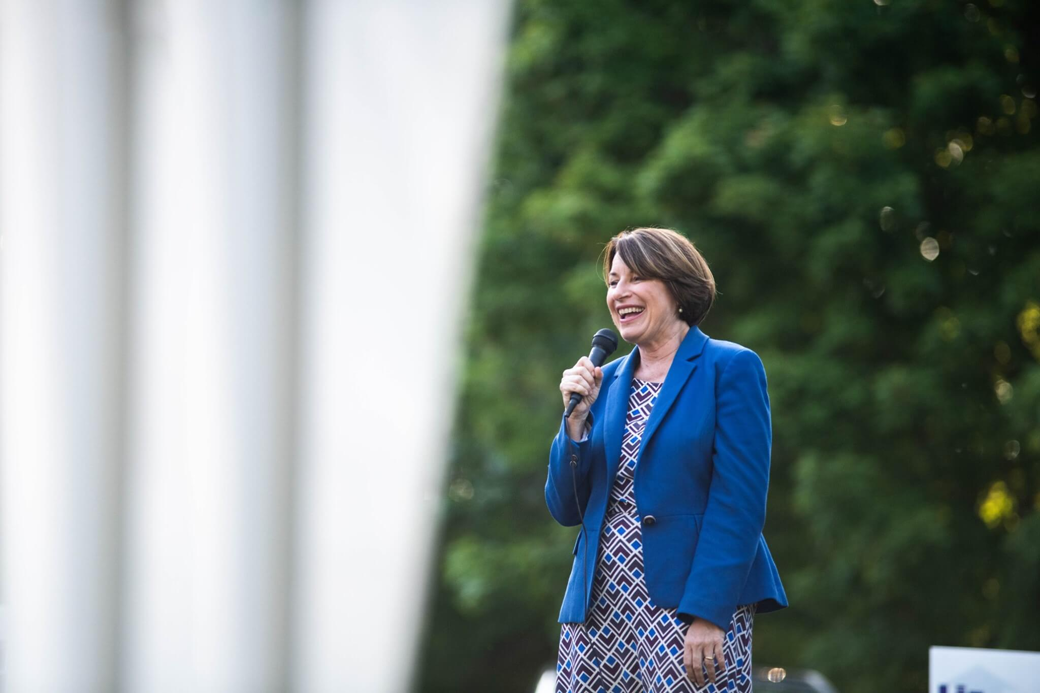 Amy Klobuchar in Iowa in August, from her Facebook page.