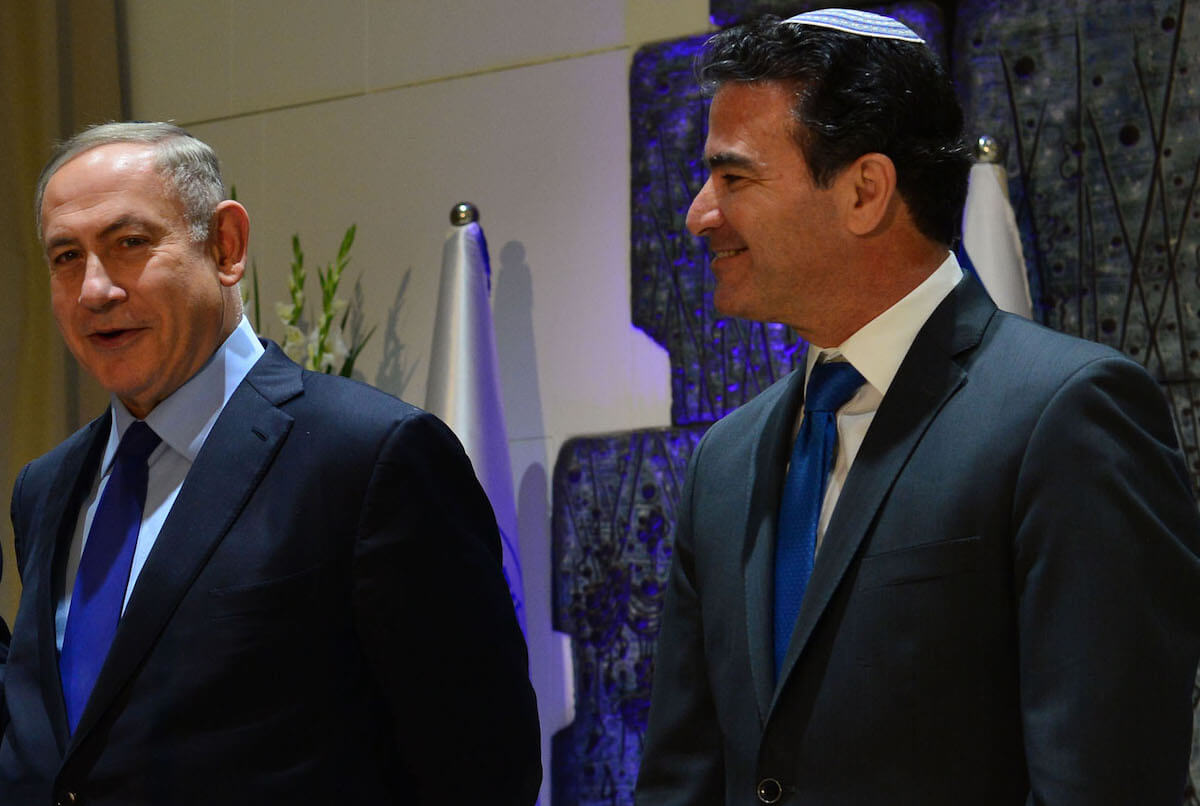 Benjamin Netanyahu and the head of Mossad, Yossi Cohen