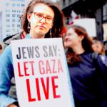 Jewish activist protesting the siege on Gaza.