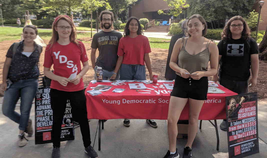 YDSA GT members tabling. (Photo: Twitter/YDSAGT)