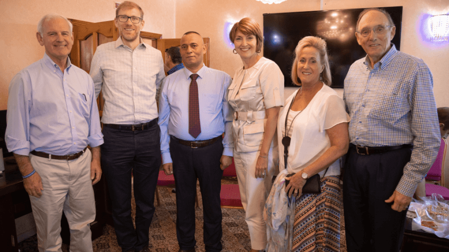 Members of the U.S. House of Representatives visit Hebron together with Palestinian businessman Ashraf Jabari and Avi Zimmerman, founders of the Judea and Samaria Chamber of Commerce and Industry. (Photo: Judea and Samaria Chamber of Commerce and Industry)