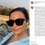 Demi Lovato Instagram post from Jerusalem that she eventually deleted.