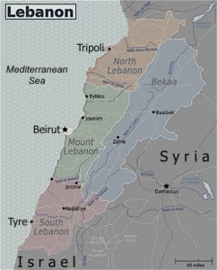Lebanon's administrative divisions reflect its religious divisions, with Shiites concentrated in the country's south and east and Maronite Christians dominating central areas near Beirut. Globe-trotter/Perry-Castañeda Library Map Collection - University of Texas Library Online, CC BY-SA