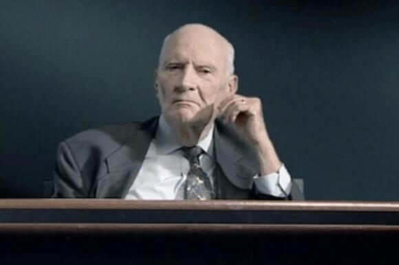 """Still of Meir Shamgar from """"The Law in These Parts"""" (Image: www.thelawfilm.com)"""