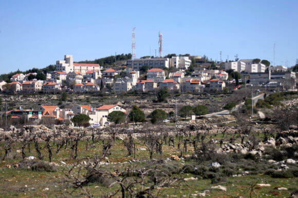 Israeli settlement near the Palestinian village of Al Maasarah, just south of the West Bank town of Bethlehem on February 19, 2011. (Photo: Najeh Hashlamoun/APA Images)