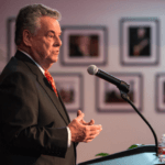 Peter King at the LBJ Library in 2015 (Photo by Jay Godwin)