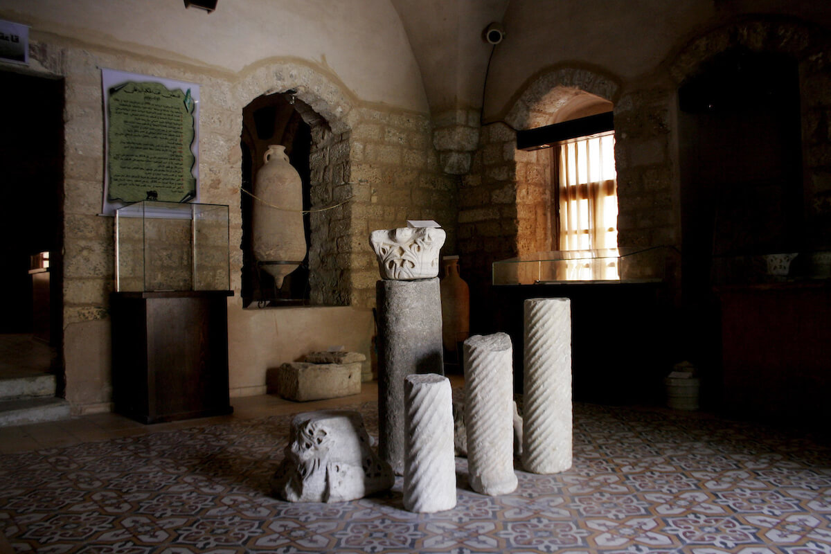 An ancient remains is seen in the ancient Pasha's Palace Museum in Gaza City on July 15, 2010. (Photo: Yousef Deeb/APA Images)