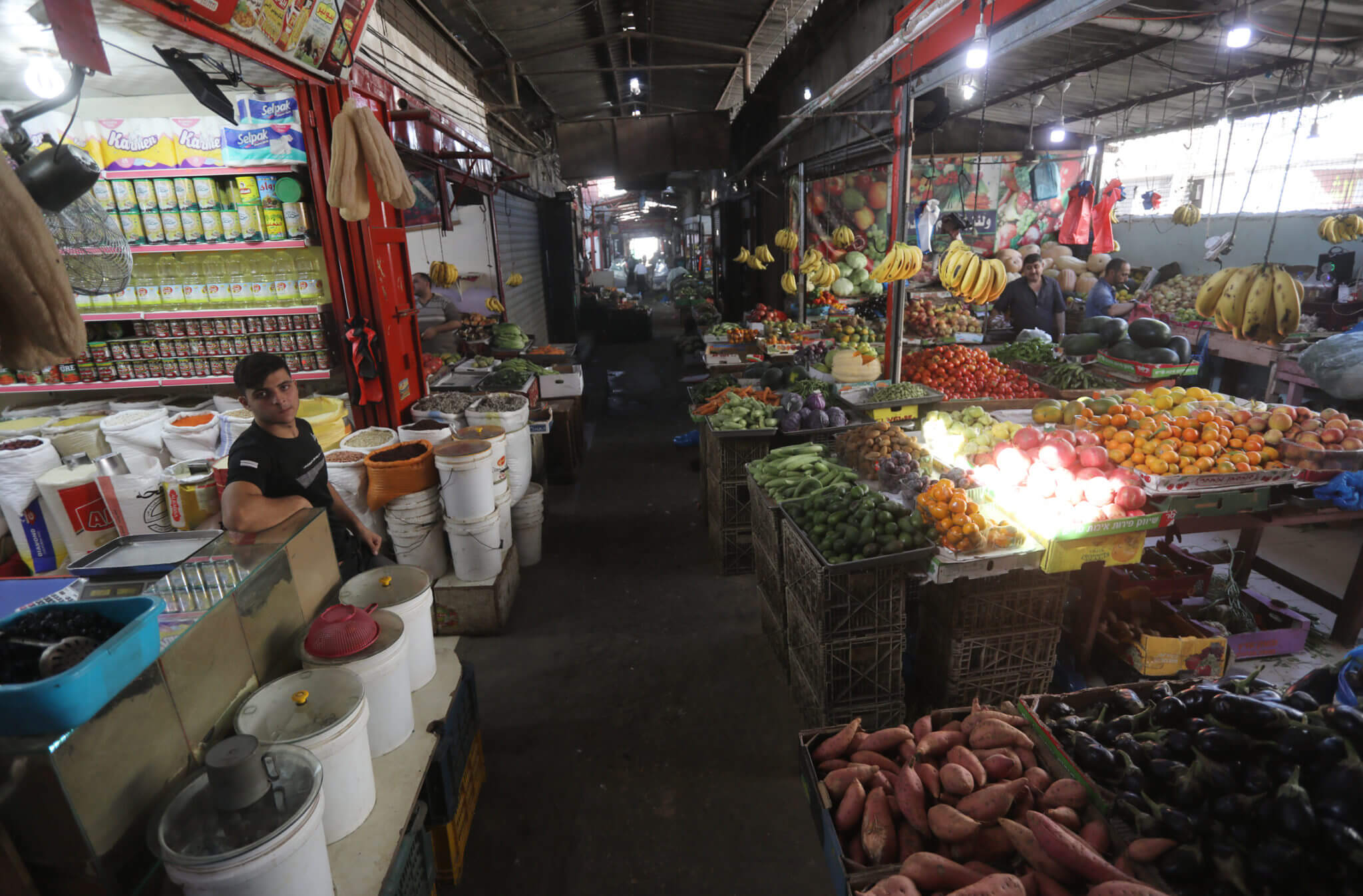 Gaza's central market is almost empty
