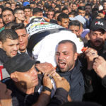Mourners carry the body of Palestinian Islamic Jihad leader Baha Abu Al-Att a during his funeral in Gaza City, on November 12, 2019.(Photo: by Mohammed Zaanoun / Activestills.org)