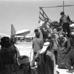Jewish Immigrants from Iraq leaving Lod Airport on their way to ma'abara camp, 1951 (Photo: Wikipedia)