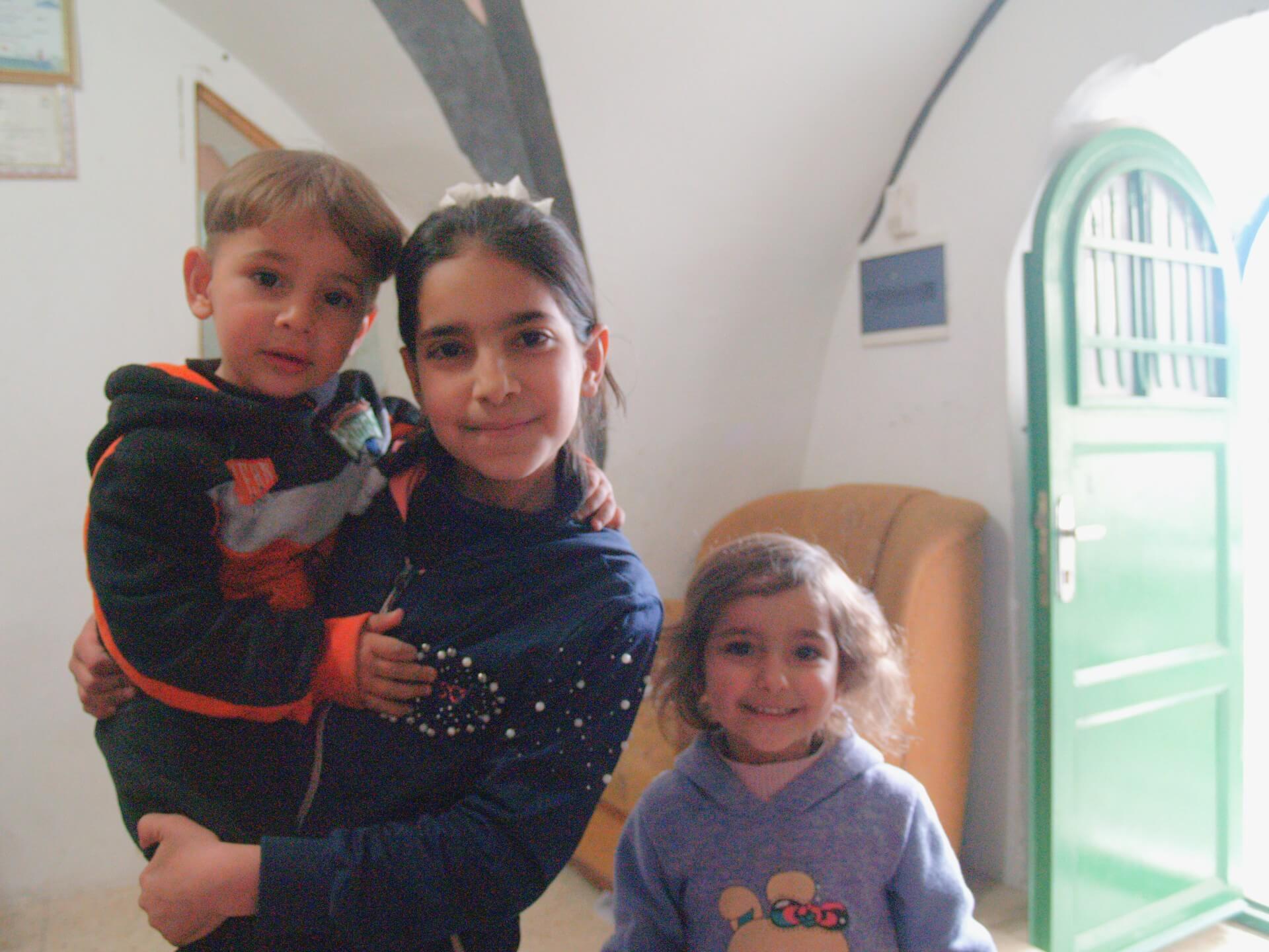 Boshra Jabr's children in their home in Hebron. (Photo: Megan Giovannetti)
