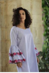 Bir Sabaa poplin midi dress