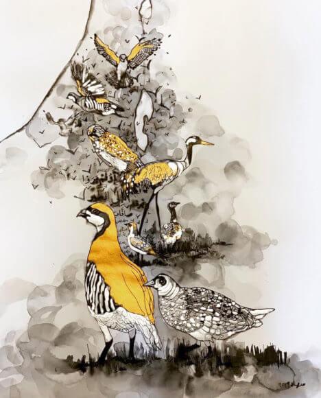 Prints and originals by Suhad Khatib