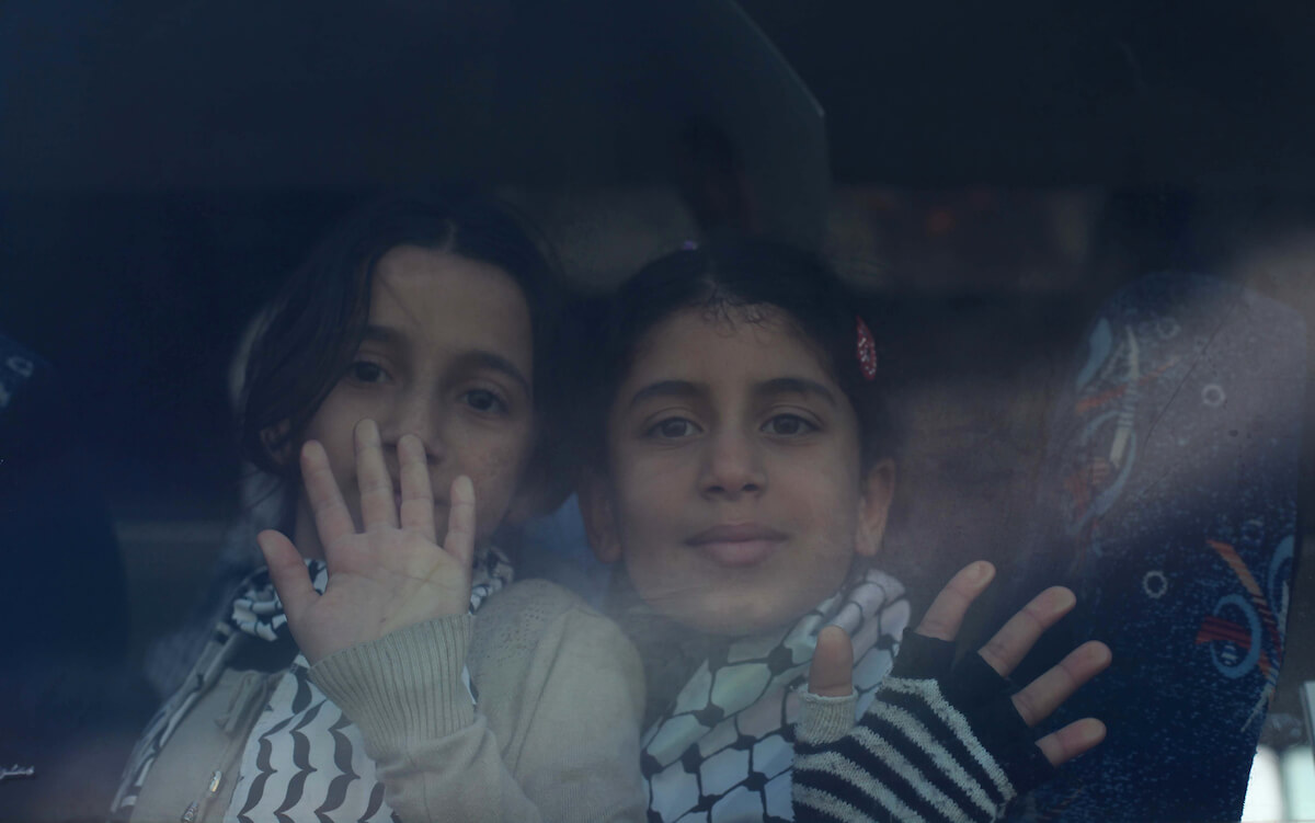 Palestinian children in Gaza City, on January 20, 2014. (Photo: Ashraf Amra)