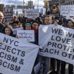 "Activists with Jewish Voice for Peace and Jews for Racial and Economic Justice at the ""No Hate, No Fear"" march in New York City, January 5, 2020. (Photo: Twitter)"