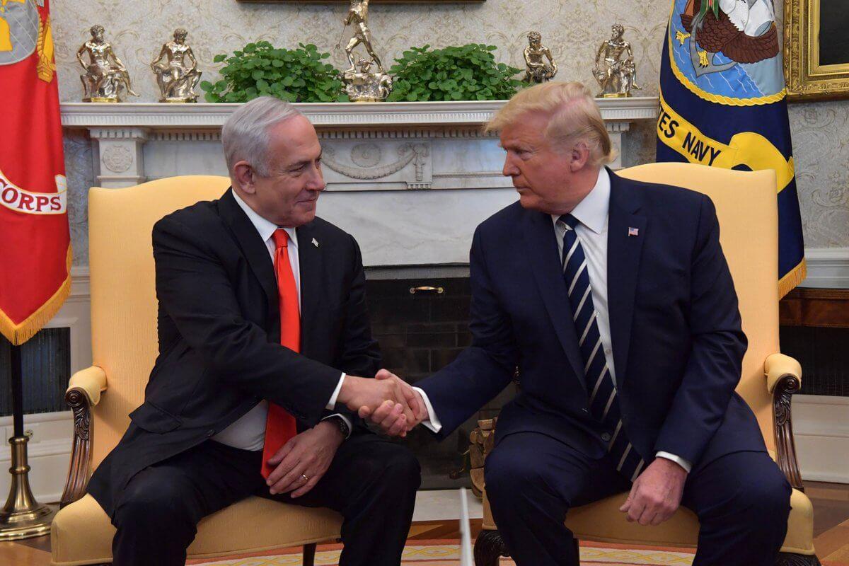Donald Trump and Benjamin Netanyahu meet at the White House, January 27, 2020 (Photo: Twitter/@IsraeliPM)