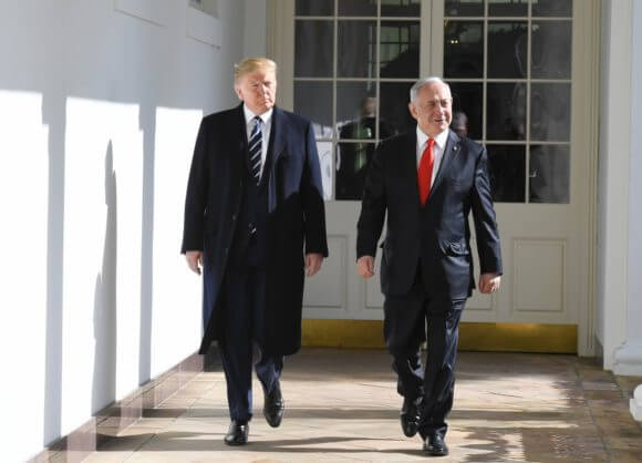 President Donald Trump and Israeli Prime Minister Benjamin Netanyahu at the White House, January 28, 2020. (Photo: Koby Gideon/GPO)