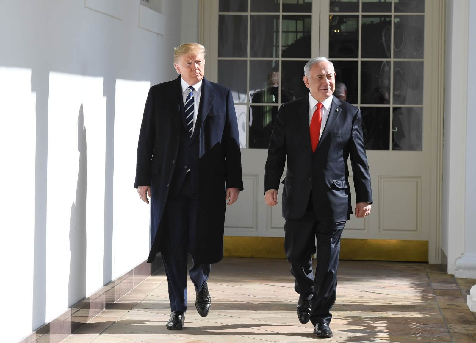 President Donald Trump and Israeli Prime Minister Benjamin Netanyahu at the White House, January 28, 2020. (Photo: Koby Gideon/GPO)