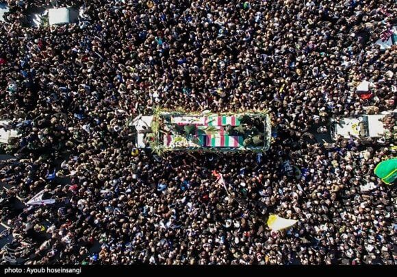 Funeral of Qasem Soleimani in Ahvaz, Iran on January 5, 2020. (Photo: Ayoub Hosseinsangi/Wikimedia)