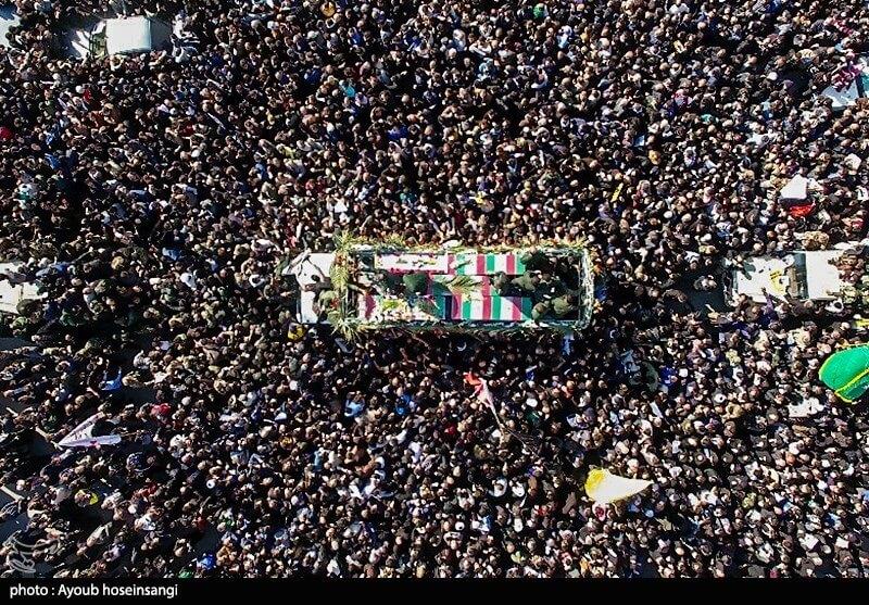 Funeral of Qasem Soleimani in Ahvaz, Iran on January 5, 2020. (Photo: Ayoub Hosseinsangi/Wikimedia)