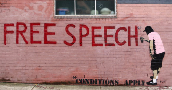 Free Speech * Conditions Apply by Fukt (Photo: Flickr/wiredforlego)