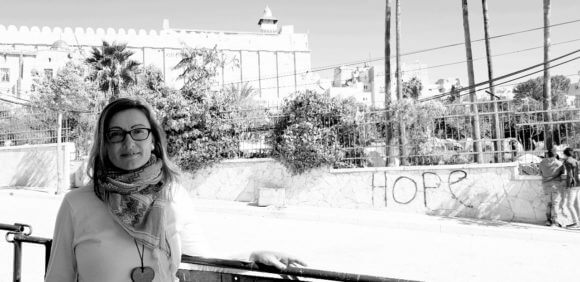 Natalie Strecker in the city of Hebron