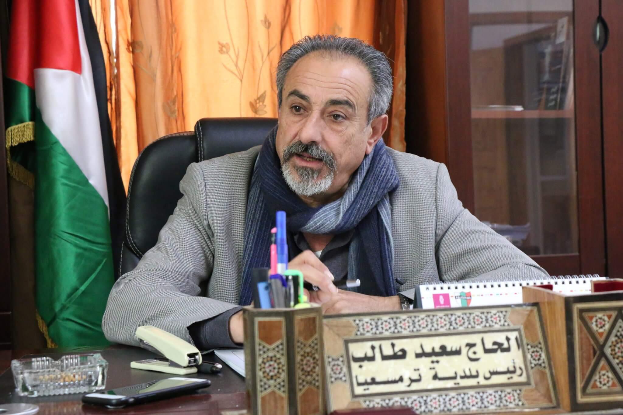 Saeed Hussein, the mayor of Turmus Ayya. (Photo: Yumna Patel)