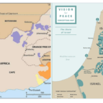 "Side-by-side maps that have gone viral on social media showing South African bantustans under apartheid and the maps included in the Trump administration's ""Deal of the Century"""
