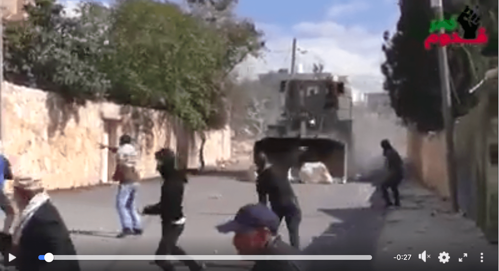 Video: Israeli forces attack Palestinian protesters with bulldozer - Mondoweiss