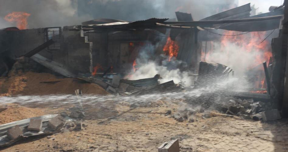 Market fire kills 10 Gazans in crowded refugee camp
