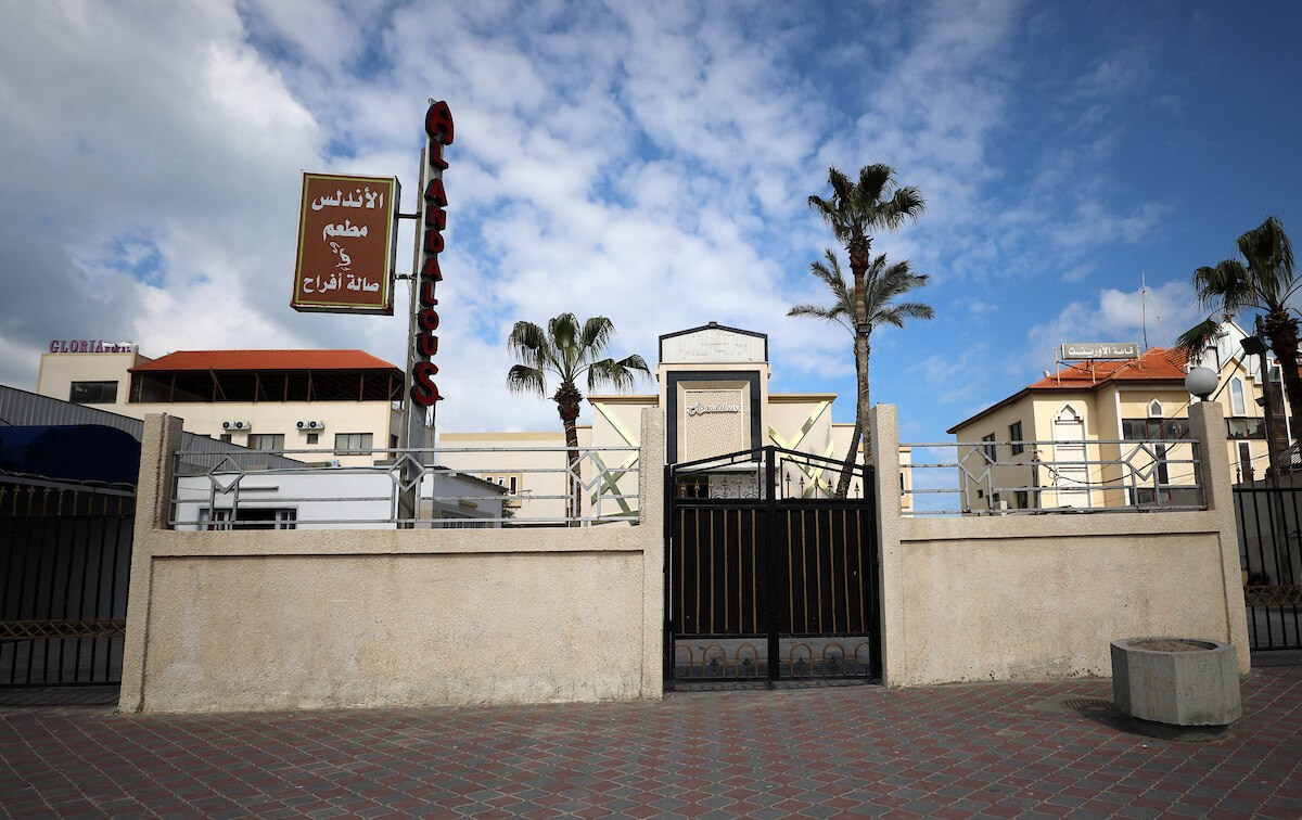 Authorities in Gaza have closed wedding halls as a preventive measure against the coronavirus, in Gaza City, on March 22, 2020. (Photo: Yasser Qudih/APA Images)
