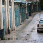 Abandoned streets and shuttered businesses near Manger Square in the occupied West Bank city of Bethlehem, one day after the first coronavirus case was confirmed in the city. March 6th, 2020, Yumna Patel/Mondoweiss