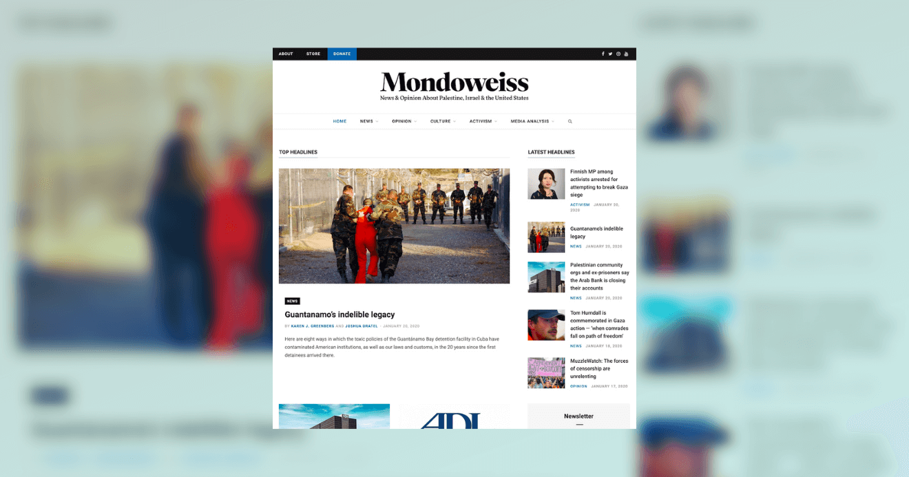 Mondoweiss is launching a new website.