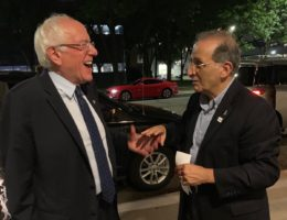 Bernie Sanders and James Zogby (Courtesy James Zogby)