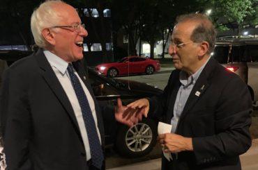 Bernie Sanders and James Zogby (Courtesy James Zogby)