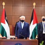 Palestinian President Mahmoud Abbas attends a meeting of the Palestinian leadership where he announced his government will no longer adhere to the agreements it signed with Israel, in the West Bank city of Ramallah on May 19, 2020. (Photo: Thaer Ganaim/APA Images)