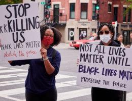 Protesting the murder of George Floyd, 14th & U Streets in Washington DC, 5/29/20 (Photo: Geoff Livingston/Flickr)