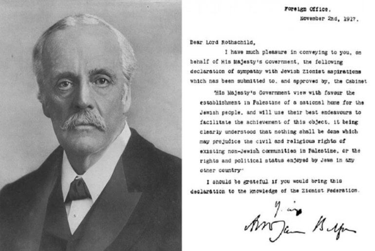 Arthur Balfour and his Declaration of 1917 (Wikipedia commons)
