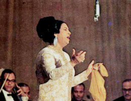 Umm Kulthum in 1968 (Photo: Wikimedia)