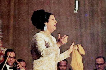 Umm Kulthum in 1968 (Photo: Wikimedia)