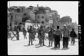 Palestine disturbances 1936. Jaffa. Old town on sea front, troops searching inhabitants for arms, on January 1, 1936. The American Colony (Jerusalem) Photo Dept. The Library of Congress. (Photo: PICRYL)