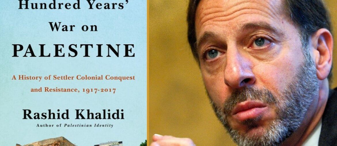 Rashid Khalidi speaks with Phil Weiss about his new book, The Hundred Years' War on Palestine