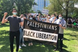 Palestinians in Houston, Texas joined a mass mobilization for Black liberation on Tuesday, 2 June 2020. (Photo: Palestinian Youth Movement.)