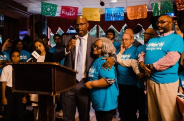 Jamaal Bowman at his campaign launch event (Photo: Twitter/@JamaalBowmanNY)